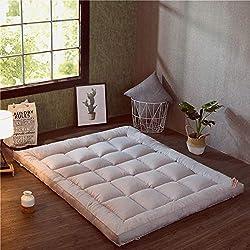 HM&DX Plegable Colchón Suelo Tatami, Grueso Acolchado Suave Antiescaras Colchón futon Dormir Mat para Dormitorio Alcoba -Gris 90x200cm(35x79inch)
