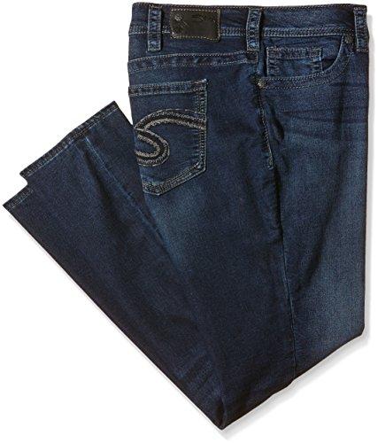 Silver Jeans Damen Suki Mid Skinny Jeanshose, Blau (Indigo SWK345), W36/L31 (Herstellergröße: 16)