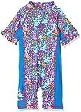 DIMO-TEX Sun Baby-Mädchen Einteiler Schwimmoverall UV-Schutz 50 Mehrfarbig (Blau, AOP Blumen) 92