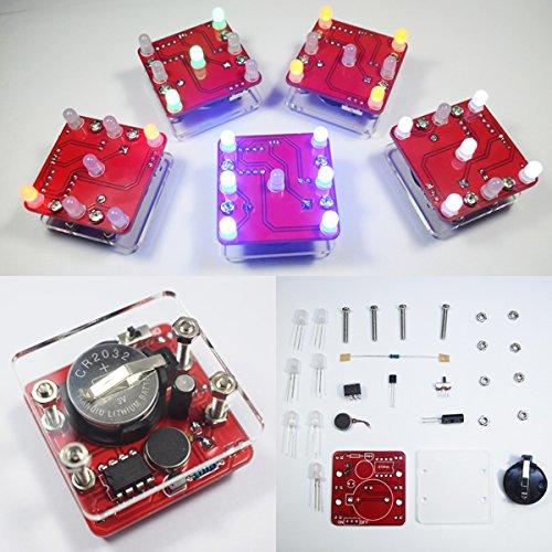 Schütteln Van (ILS - DIY Schütteln LED Würfel Kit mit kleinem Vibrationsmotor)