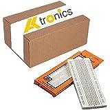 Generic Elementz Nickel Plated 840 Points Bread Board or Solderless Piecesb Circuit Test Board, White