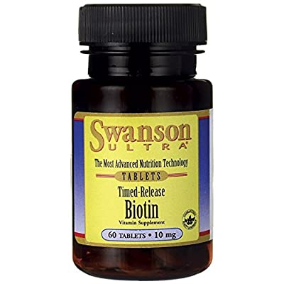 Swanson Ultra Time Release Biotin 10,000mcg (10mg, 60 Tablets) from Swanson Health Products