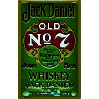 Cartello in alluminio Art Deco Jack Daniel Old No. 7