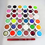15x5ml UV Colorgel Glitzergel Effektgel Set + 1 Pinsel Gratis