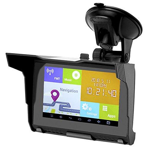 Rupse GPS Moto 5 pouces Système Android Navigation étanche IPX5 800x480 Écran Tactile WIFI Bluetooth FM Émetteur Navigateur Automobile 512M Ram 8GB Flash