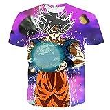 Beiläufiges Kurzarm T-Shirt Dragon Ball Z T-Shirt Herren 3D T-Shirt Super Saiyajin Goku Brolly Gedruckt Top T-Shirt Camiseta Hombre (Farbe : #28, größe : M)