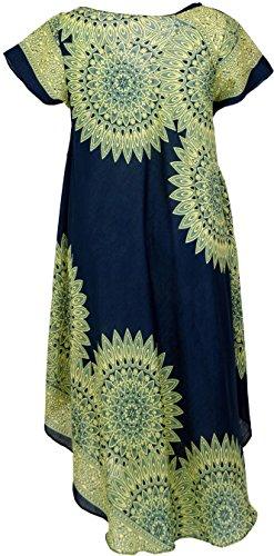 Maxikleid, Strandkleid, Sommerkleid, langes Kleid, Übergröße, große Größen, plus size, oversize / Lange Kleider Blau