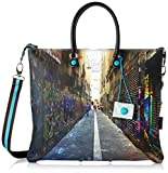GABS G3 Tg L - Piatta Trasformabile Studio Print Borsa Donna, Multicolore (305 Sidney), 1x36x43 cm (B x H T)