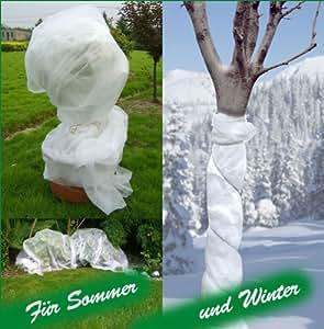 Wintervlies zum Abdecken von Pflanzen, Schutzvlies, 1,50 x 5 Meter