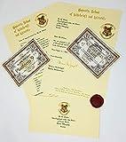 Lettera accettazione di HARRY POTTER ad Howgarts, biglietto Hogwarts Express, Biglietti Knight Bus - ideale per gli amanti di Hogwarts