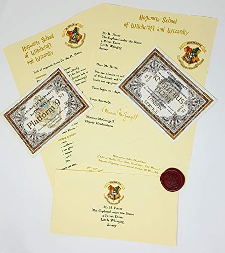 Harry Potter gift Hogwarts style Personalised Acceptance Letter Gift Pack With Handcrafted Wax Seal – Stunning Quality – For Any Age – Fast Dispatch – Fun For that Witch or Wizard in your life! by planetsforsale