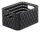 Rotho Aufbewahrungskiste, Kunststoff, schwarz, 18.3 x 13.7 x 9.8 cm