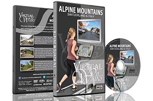 Virtuelle Spaziergänge - Alpine Berge Schweiz & Italien Laufband und Radfahrtraining