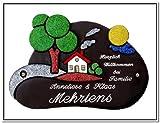 Grafic Design, Türschild / Namensschild mit Gravur Wunsch 31 x 22 cm Keramik Schild Nr. 580