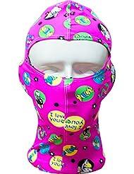 Moolecole Gorra De Natación Para Las Mujeres Sol Natación Máscara De Protección Sombrero De La Nadada Anti-Insecto Máscara De Buceo Con Escafandra Morder Casquillo De Buceo Rosa Roja