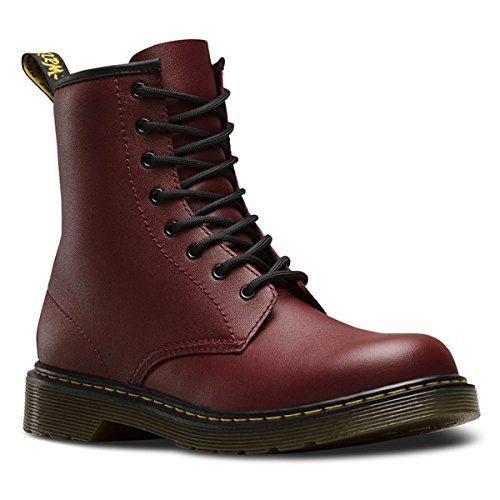 Dr Martens Youth Smooth Leather Lace Up / Zip Boot Cherry Red...