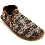 Cosdam 1480 - Zapatillas de Estar por Casa Hombre Invierno Biorelax con Dibujos Náuticos Marrones - Marrón Oscuro, 45