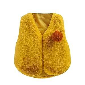 DianShao Chalecos para Bebés,Niña Cálido Ropa Felpa Chaquetas Outfits 13