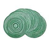 SHACOS Verde Tovagliette di Cotone Tessuta Set da 6 Tovaglietta Tonda Lavabile Resistenti al Calore, per Natale Partito Cucina