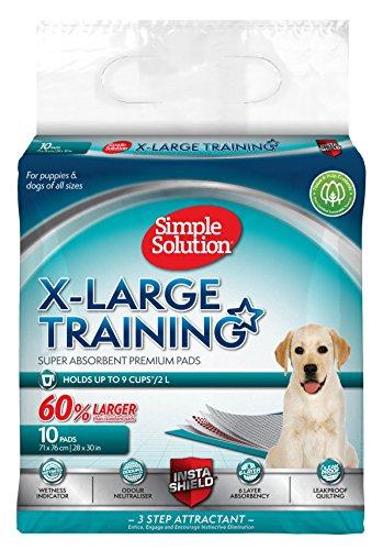 Hund und Welpen Simple Solution XL Training Pads  - 6 lagig -  10 Stück (Bio Training Hund Behandelt)