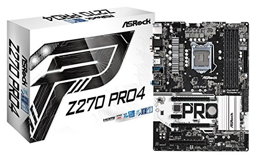 ASRock (90-MXB3Q0-A0UAYZ Motherboard Intel Z270, 4x DDR4 DIMM schwarz