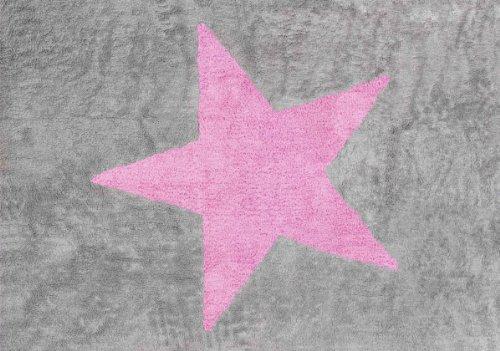 aratextil-bambini-tappeto-100-cotone-lavabile-in-lavatrice-coleccion-estrela-gris-rosa-120x160-cms