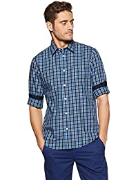 Arrow Sports Men's Checkered Slim Fit Casual Shirt