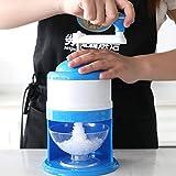 Broyeur à glace manuel machine à glace électrique Candy Crusher Shaver Snow Cone Maker Maison de cuisine free size bleu
