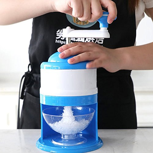 Ice Crusher Eis Maschine Elektrischer Rasierapparat Candy Crusher Snow Cone Maker Home Kitchen Free Size blau