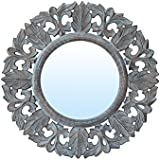 """Decorative Hand Crafted Wooden Wall Mirror Panel By The Urban Store (20""""x20"""")"""