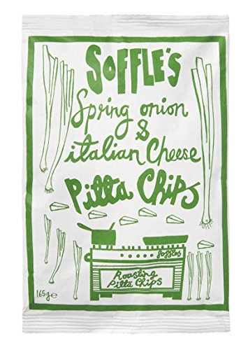 Soffles Italian Cheese and Spring Onion Pitta Chips Share Bag, 165 g, Pack of 9