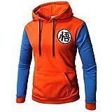 PIZZ ANNU Dragon Ball Sweaters Goku Sudadera Pullover Sudadera Classic Dragonball(Naranja&Azul M)