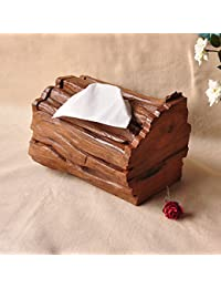 XBR Adornos de madera maciza de madera de alto grado del hogar del hogar, caja de papel, caja de cartón, tejido a mano