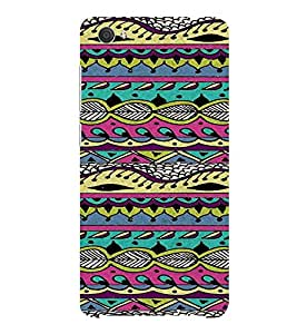 ifasho Designer Phone Back Case Cover Vivo X5Pro :: VivoX5Pro ( Tiger Manhunter Tattoo Design )