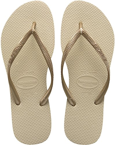Havaianas Damen Slim Zehentrenner Beige - Beige - Sand Grey/Light Golden