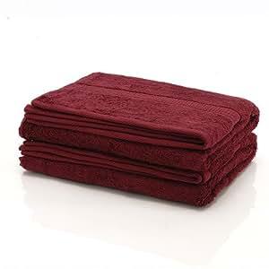 1 tlg. etérea Duschtuch, gekämmte Baumwolle, schwere Qualität, 70x140 cm, Bordeaux