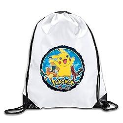 Good Gift - Cool Pikachu Backpack Sack Bag Gym Bag For Men & Women Sackpack