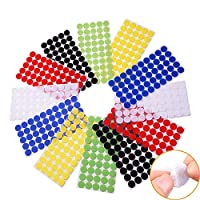 Arlent Colorful Hook and Loop Self Adhesive Fastener Dots Coins Sticky Back Heavy Duty Circles Best for Home, Office, Classroom and Crafts 6 Colors