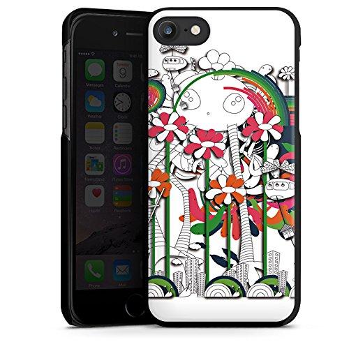 Apple iPhone X Silikon Hülle Case Schutzhülle Fantasie Blumen Traumwelt Hard Case schwarz