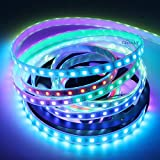 CHINLY WS2811 5m 100IC 300leds Tira de píxeles LED Flexible Tira direccionable individualmente Led Dream Color IP67 Waterproof DC12V PCB blanco