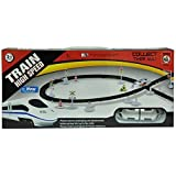 S S TRADERS - High Speed Metro With Flyover Track Battery Operated Train Toy For Kids With Flyover Black Track - Kids Good Gift