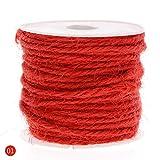 rungao 10m DIY Farbe Hanf Seil 2mm natürliche Craft Jute Seil Kordel Dick für rot