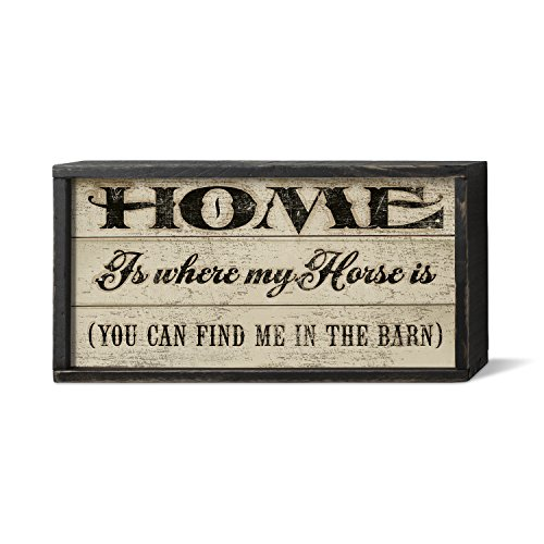 American Woodcrafters Home is Where Pferd ist von Palette Holz Schild, 30,5 x 15,2 cm