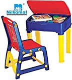 Nilkamal-Apple-Juniors-Study-Table-Set-Red-And-Blue