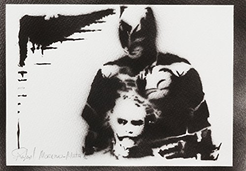 Batman und Joker Poster Plakat Handmade Graffiti Street Art - Artwork