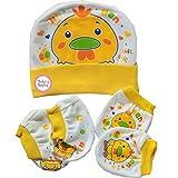 Baby Basics - Cap Mitten Booties Set - Y...