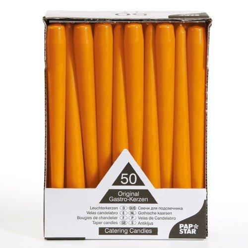 50 Leuchterkerzen Ø 2,2 cm 25 cm orange Spitzkerzen
