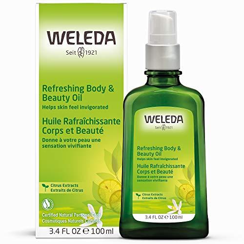 WELEDA Citrus Erfrischungs-Öl, belebendes und erfrischendes Naturkosmetik Körperöl und Pflegeöl, Pflege und Schutz vor trockener Haut, Citrus Bodyöl mit frischem Duft (1 x 100 ml) -