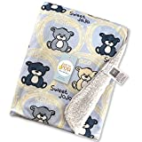 #6: Baby Bucket Double Layer Velvet Fleece Newborn Printed Baby Blanket (VEL BEARS SWT JOJO)