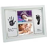 Gimars Kit Bébé Cadre d'Empreintes de Pieds et Mains pour Bébé art cadre photo print frame 16,5 x 11 inches